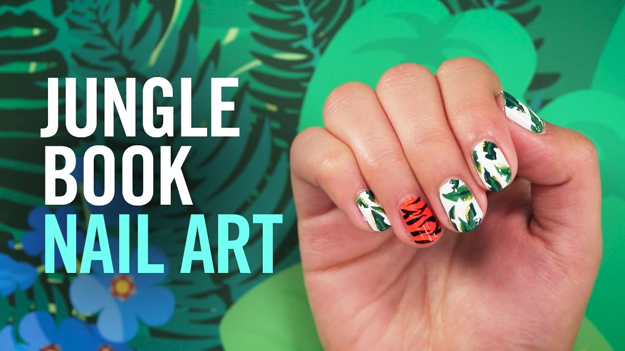 How to create jungle book nail art disney style youtube prinsesfo Image collections