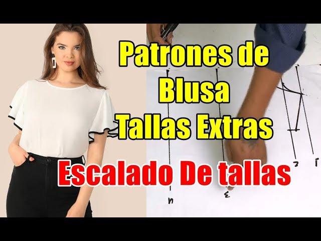Patrones Blusa De Dama En Tallas Extras Youtube