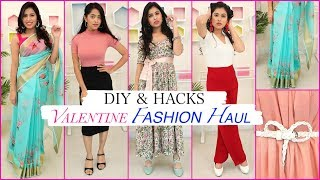 VALENTINE Fashion HAUL - DIY & HACKS | #FashionTadka #OutfitIdeas #Styling #Anaysa #DIYQueen