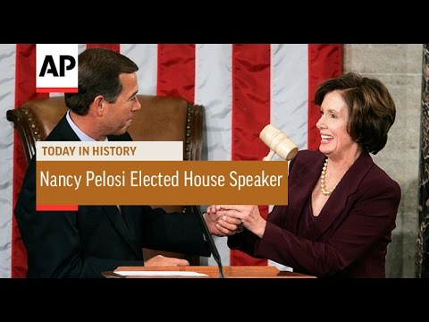 Nancy Pelosi Elected 1st Female House Speaker - 2007 | Today in History | 4 Jan 17