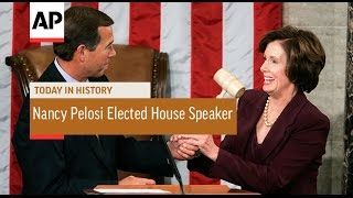 Nancy Pelosi Elected 1st Female House Speaker - 2007   Today in History   4 Jan 17