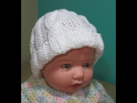 How to knit newborn cable hat for beginners