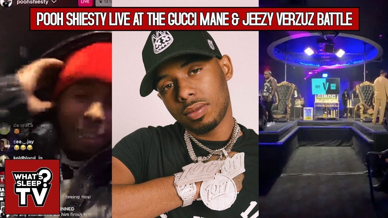 Pooh Shiesty's Instagram Live At The Gucci Mane & Jeezy Verzuz Battle