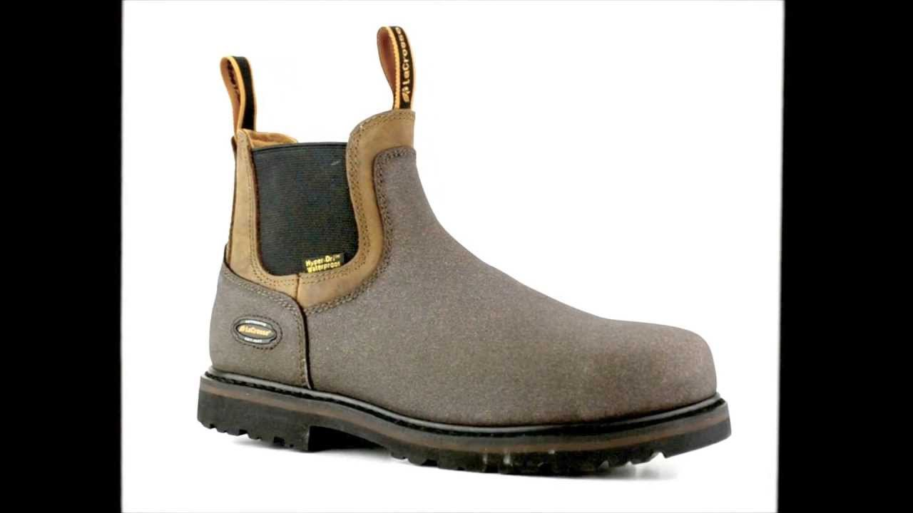 Men's LaCrosse 464165 Steel Toe Waterproof Slip On Work Boot ...