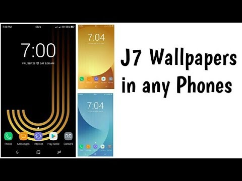 How To Set Samsung Galaxy J7 Stock Wallpapers In Any Android Youtube