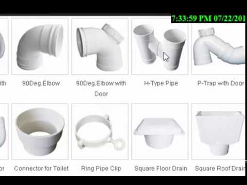 Pvc Pipe Fitting Types In English Hindi Youtube