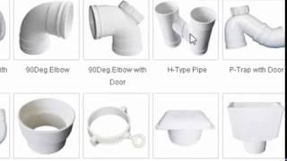 PVC Pipe Fitting Types in English / Hindi
