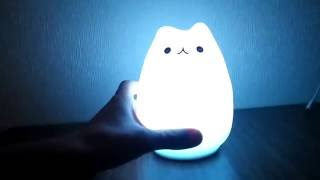 Cartoon Cat LED Night Light Review (from GearBest.com)