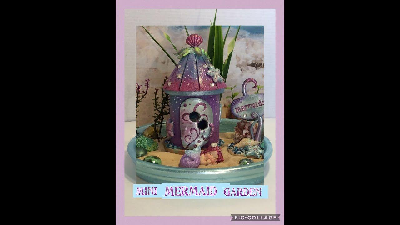 DIY Miniature  Mermaid garden By Crafty Conjuring Newest Vid on How To Mermaid Fairy Land