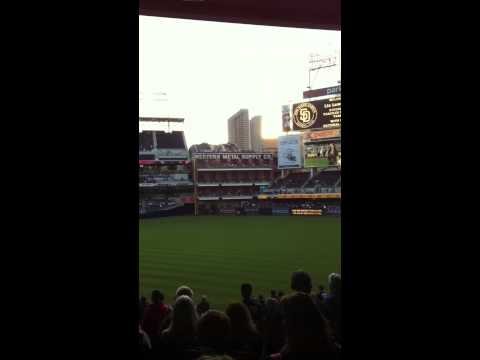 San Diego Padres National Anthem May 4th 2012