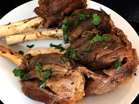 Arabic Style Mutton Shanks Made In My Garden in Clay Pot (outdoor recipe)