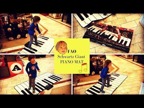 FAO Schwarz Piano giant Dance Mat at Belk Kids Adventures with Sweetie Fella Aleks testing