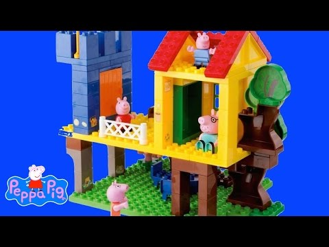 Peppa Pig  Mega Blocks Construction Set Compilation Peppa Pi