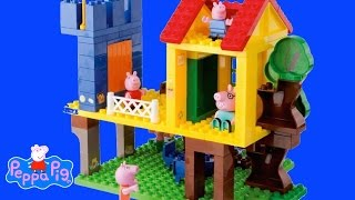 Peppa Pig  Mega Blocks Construction Set Compilation Peppa Pig Toys English 2015 | Thechildhoodlife