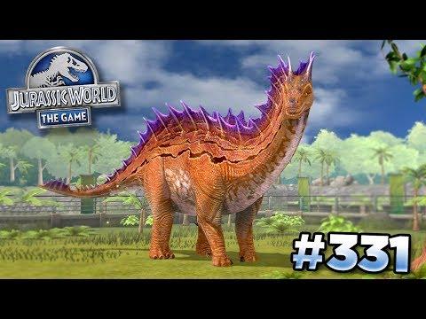 MAX AMARGASAURUS Feeding and Battling!! || Jurassic World - The Game - Ep331 HD