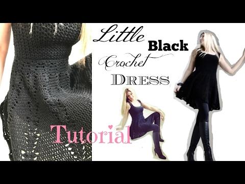 Little Black Crochet Dress Tutorial
