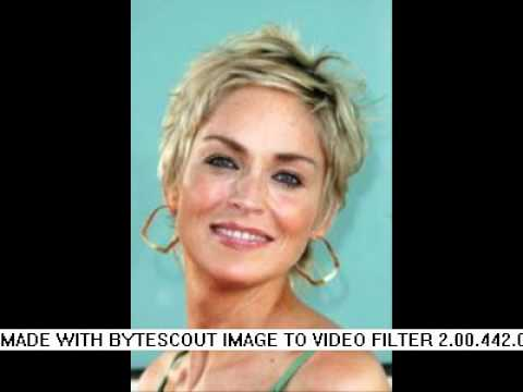 Sharon Stone Short Hairstyles In 2011 Youtube
