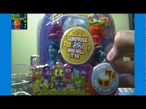 Opening a BOX of Moshi Monsters Moshlings Series 3 Blister Packs