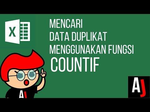 Cara Mencari Data Duplikat pada Excel dengan fungsi COUNTIF - Tutorial Excel Indonesia