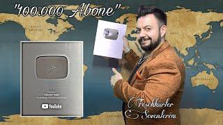Hüseyin Kağıt 100.000 Aboneye Özel Plaket