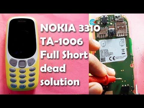 NOKIA 3310 TA-1006 Full Short Dead Solution