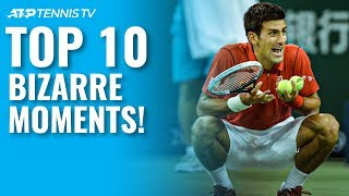 Top 10 Bizarre ATP Tennis Moments!