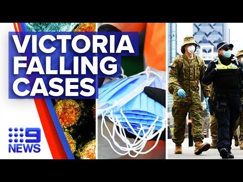 Coronavirus: Victoria records falling cases but surging death toll | 9 News Australia