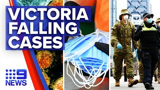 Coronavirus: Victoria records falling cases but surging death toll | 9 News Australia