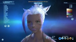 [Final Fantasy XIV] Character creator details - Miqo'te and Viera FEMALE