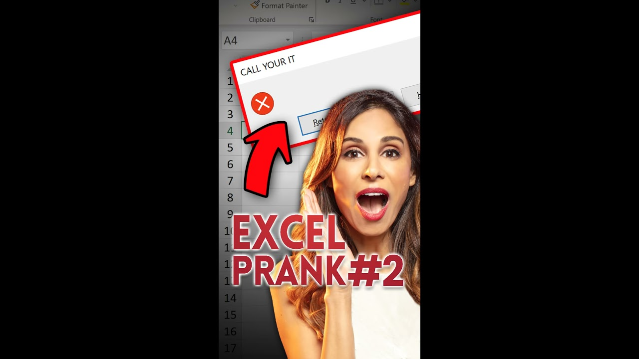 WARNING! RANDOM FILE WILL BE DELETED! Excel Prank Part 2 #shorts