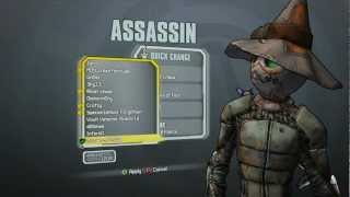 Borderlands 2 - Assassin Madness Pack (Murder of Cr0ws head and Nature of Fear Skin)