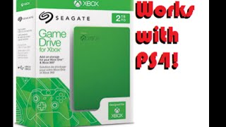 Xbox SeaGate Game Drive Works for PS4!