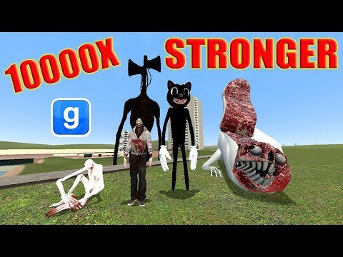 Which SCP / Monster Is The STRONGEST? GMOD Nextbot - Trevor Hendersons Creations