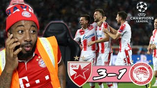 Red Star Belgrade 3-1 Olympiacos | Great Comeback Win! | UCL Group B