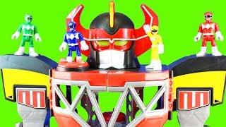 Imaginext Power Rangers Morphin Megazord Dragonzord RC Rita Repulsa Family Kids Toys Set