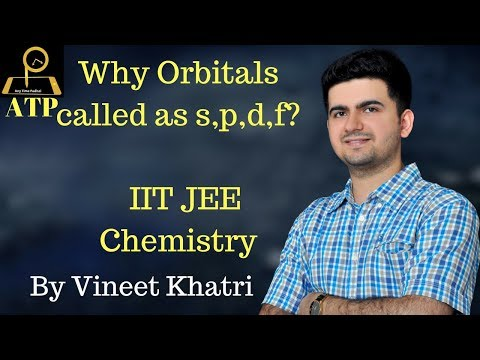 Why Orbitals called as s,p,d,f? - IIT JEE Chemistry