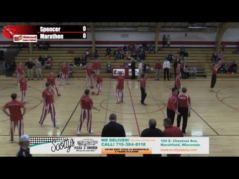 Spencer Boys Basketball vs Marathon