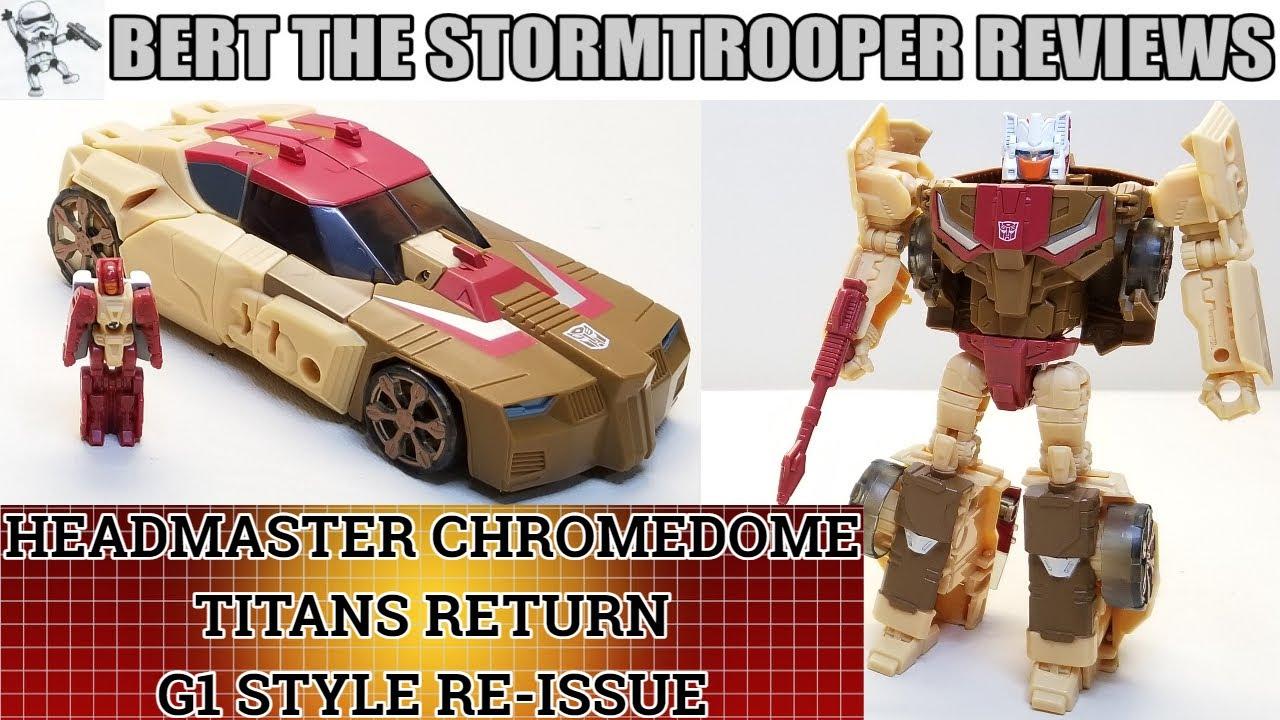 G1 Style Titans Return Headmaster Chromedome Review by Bert the Stormtrooper!