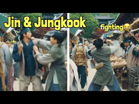 BTS Jin and Jungkook Fighting in Suga Agust D MV 😂