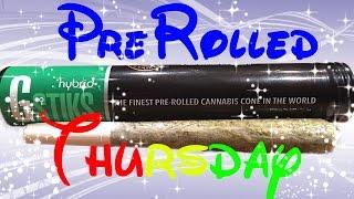 PreRolled Thursday: GSTIKS (Hybrid) by GFarmaLabs - contains flower, oil, and kief!