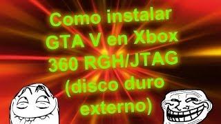 Cómo instalar GTA V en Xbox 360 RGH/JTAG (disco duro externo)