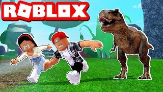 HUNTED BY A DINOSAUR! - ROBLOX TIME TRAVEL ADVENTURES!