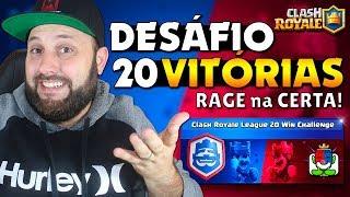 BRUNO CLASH - JOGANDO O DESAFIO DAS 20 VITÓRIAS DA CLASH ROYALE LEAGUE AO VIVO!! RAGE??