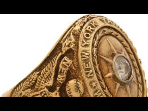 Babe Ruth 1927 World Series ring up for auction by Charlie Sheen