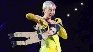Miley Cyrus FU Live - She Isn't A Fan of Selena Gomez Disses Singer At Bangerz Concert in Italy