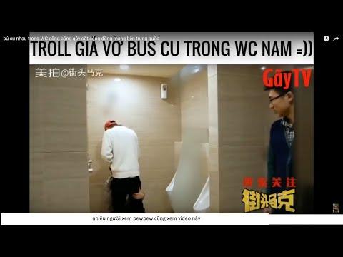 bus cu nhau  trong WC công cộng gây sốt cộng đồng mạng bên trung quốc