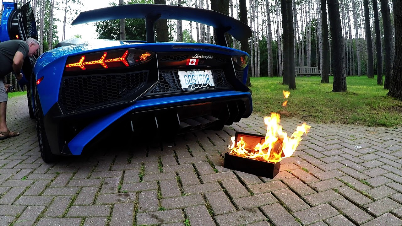 Lamborghini Aventador SV insane flames roasts Ace of Spades Champagne -  Ghostriderto