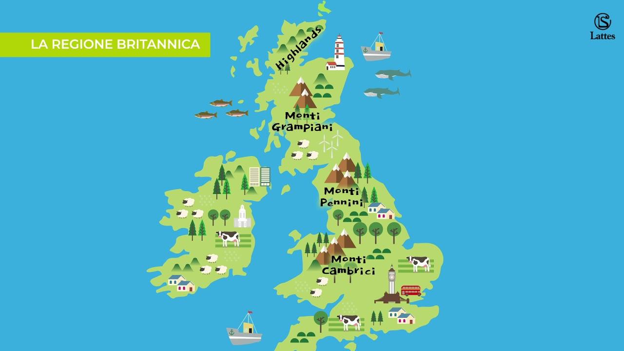 Cartina Gran Bretagna Regioni.La Regione Britannica Youtube