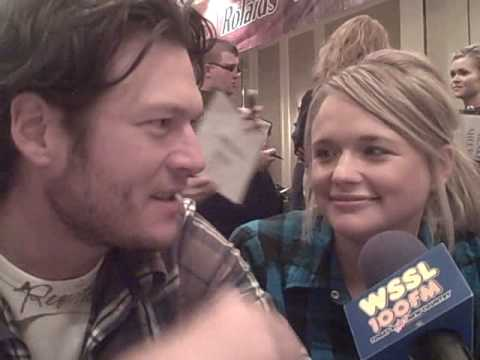 Blake Shelton and Miranda Lambert with WSSL 100 at CMA's