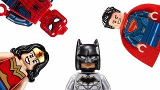 Learn Colors With Spiderman Superhero Wrong Heads Matching Game Lego Toys For Kids
